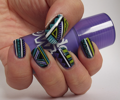 Funky freehand tribal nails by Ithfifi
