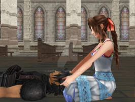 Aerith and Zack by aerith1001