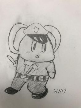Smol Police Mouse by CloudySkies17695
