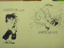 Brainy and Erasa inked at Genericon 2013 by StamayoStudio
