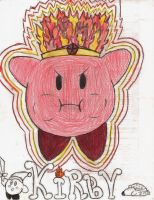 Fire Kirby by davids-sketchbook