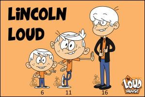 Lincoln Loud growing up! by C-BArt
