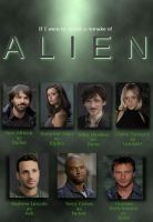 My cast pick if ALIEN was made today by Jimmy-B-Deviant