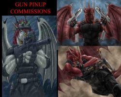 gun pinup commissions by Max-Dragon