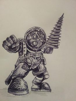 Bioshock Big Daddy by rawrrawrrou