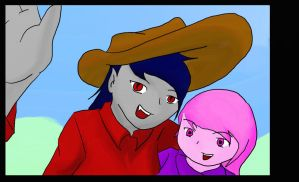 Li`l Princess Bonnie Out With Sitter, Marceline by drgonlance36