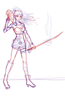 SAYA Contest Entry 2- SKETCH WIP by BunnyVoid