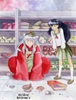 Inuyasha and Kagome : 7-Ten by maria-jaujou