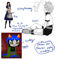 Otakon 2011 cosplay schedule by blackcat-girl
