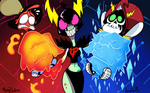 Wander over Yonder - Fire and Ice ( Fanart ) by MichaelFay