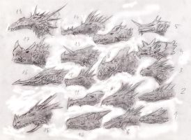 Dragonheads study2 by Random223