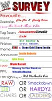My WWE Survey by Bubbles1253