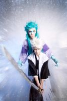 Hitsugaya Toushiro and Hyourinmaru - Bleach by Pugoffka-sama