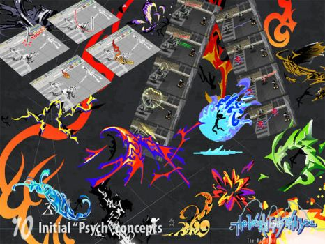 Initial 'Psych' concepts by wewy