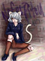 Neferpitou -One cool cat by Vio-White