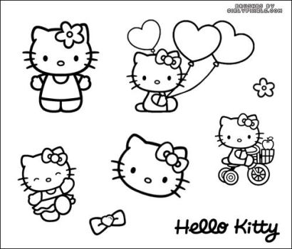 Hello Kitty Brushes by girlypixels-com