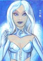 Emma Frost art card by LEXLOTHOR