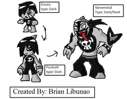 Fakemon: Goths and heavy metal by Brian12