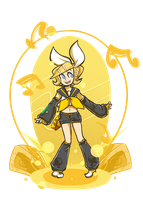 Rin Kagamine by Coffee-and-Paperbags