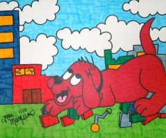 Clifford the Big Red Dog by ToniTiger415