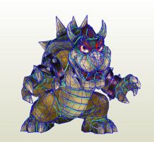 SSBB Bowser papercraft preview by nin-mario64