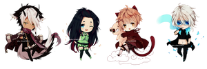 Mini-chibi Commishies by Piku-chan21