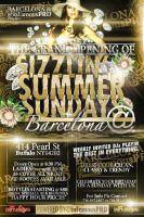 SIZZLIN SUNDAYS flyer by V1sualPoetry