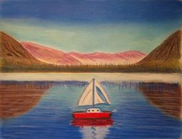 Pastel Sailboat by Bobcat79
