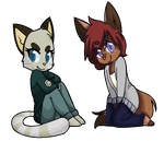 .:Commission:.Kattaa and Kable by kittyzoey