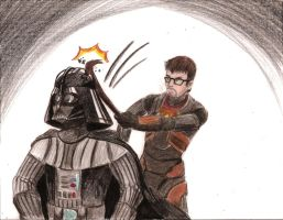 Vador vs Freeman by ArsonBurns
