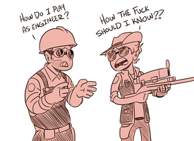 Red and Leik PLay TF2 by AnArtistCalledRed