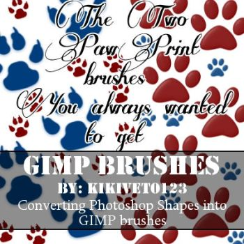 2 GIMP paw print brushes - Free download by iVixey