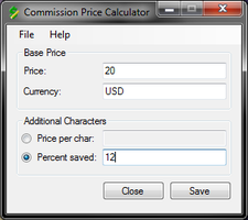 Software :: Commission Price Calculator by ElectricCoffee