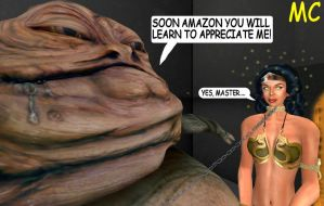 Wonder Woman Hypnotized And Sold To Jabba The Hutt by The-Mind-Controller