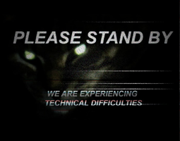 Spooky Cat Technical Difficulties Card by MrAngryDog