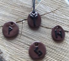 Rune necklaces by MeticulousBlue
