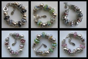 Six Chunky Bracelets by Athalour