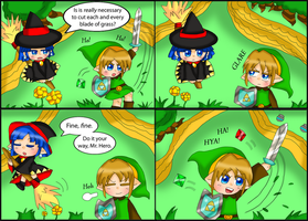 Zelda comic: Obsessive by purplemagechan