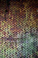 Rusty Perforated Sheet Metal by aegiandyad