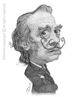 Salvador Dali Caricature Sketch by StDamos