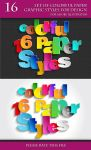 Set of Colorful Paper Graphic Styles for Design by Love-Kay