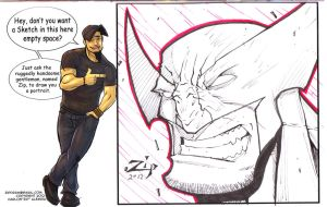 Art book free sketch for Jeff by ZipDraw