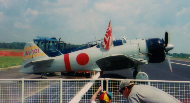 2001 AEDC Air Show - Mitsubishi Zero Replica by squirrelismyfriend