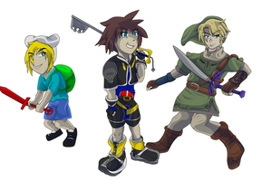 Cute Boys with Awesome Weapons by charliethemew012