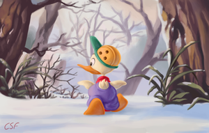 Searching in the Snow by CartoonSilverFox