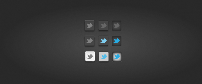 Awesome 3D twitter buttons by vibethemes