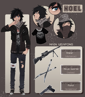 Noel the zombie fighter [reference sheet] by vannbun