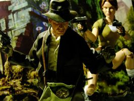 Indiana Jones + Lara Croft Figures by EnglishBabyDoll