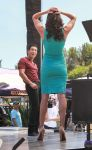Tall Daniela Ruah on Extra set by lowerrider