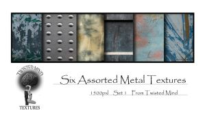 Twisted Mind six assorted Metal Textures Set 1 by Textures-and-More
